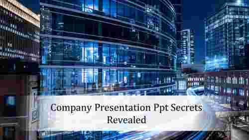 Background of Company presentation ppt