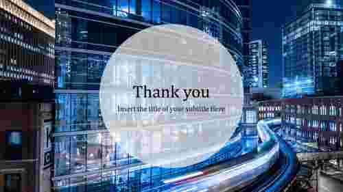 Building thank you slide for powerpoint
