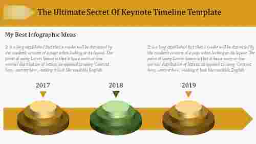 Infographic keynote timeline template