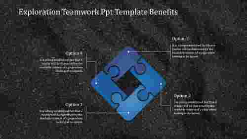 PuzzledesignteamworkPPTtemplate