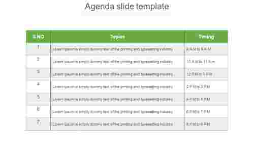 agendaslidetemplatePPT-Tablemodel