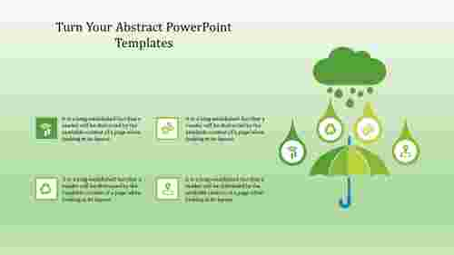 Abstract powerpoint templates with Umbrella diagram