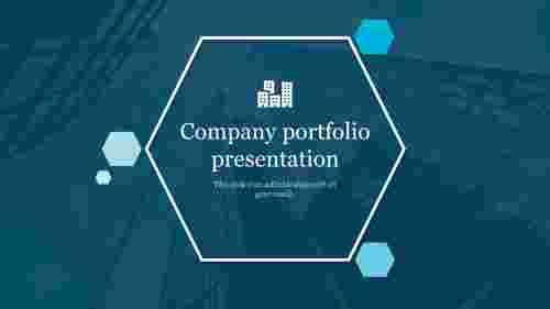 CompanyportfolioPowerPointtemplate-Hexagonalmodel