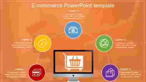 e-commerce powerpoint template with background