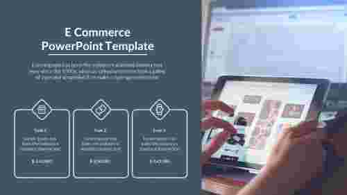 E - commerce PowerPoint template