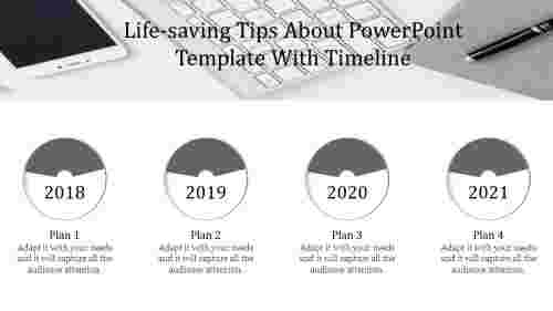 powerpoint template with timeline associated