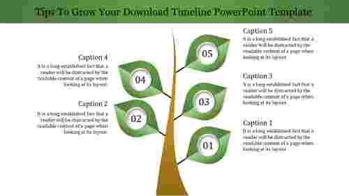 Download Timeline Powerpoint Template Tree Model
