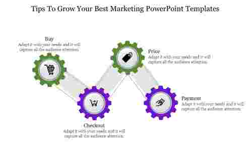 Best marketing powerpoint templates -Zigzag Model Diagram