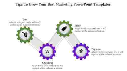 Bestmarketingpowerpointtemplates-ZigzagModelDiagram