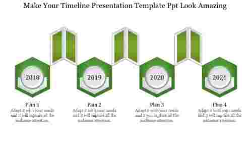 Customizable timeline presentation template PPT