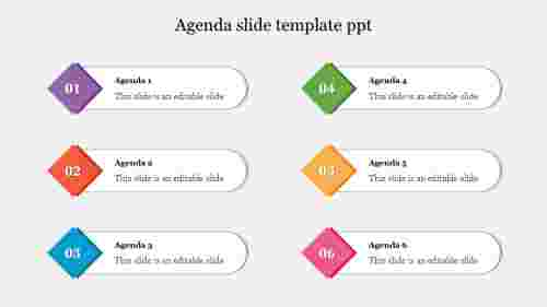 Best agenda slide template PPT