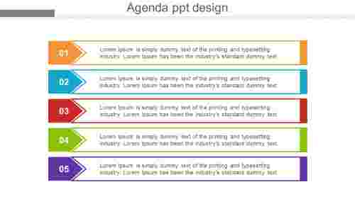 agendaPPTdesignChevronmodel