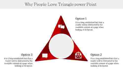 Segmented Triangle Powerpoint Template