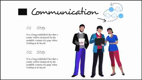 Two stages communication powerpoint template