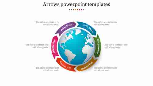 Circle Arrows Powerpoint Templates