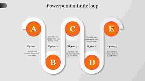powerpoint infinite loop-Orange
