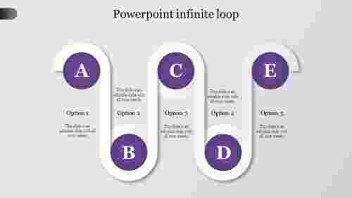 powerpoint infinite loop-Purple