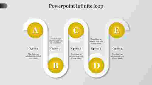 powerpoint infinite loop-Yellow