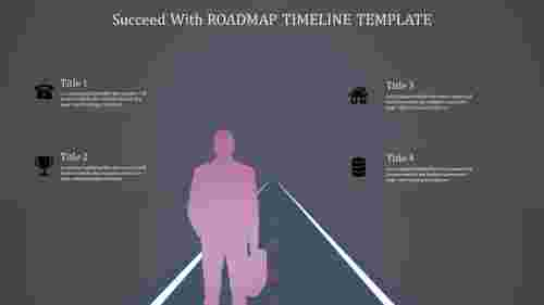 Silhouette Model Roadmap Timeline Template