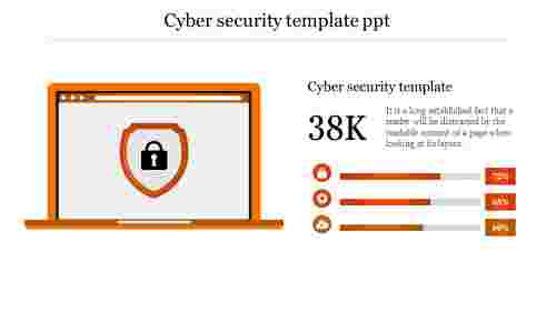 cyber security template ppt-Orange