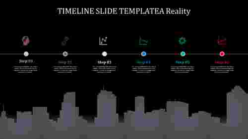 looped timeline slide template
