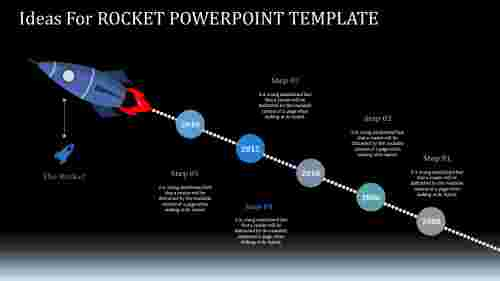 Technology Rocket Powerpoint Template