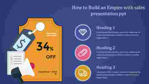 A three noded sales presentation ppt