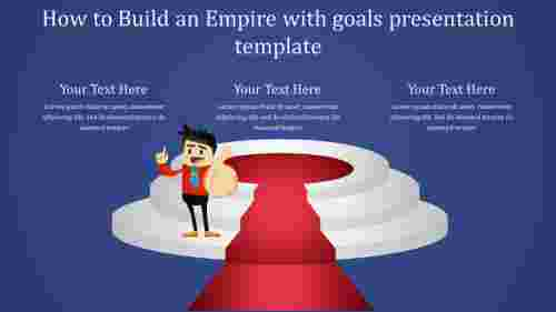 goals presentation template-our target