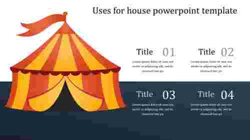 Housepowerpointtemplate-hutmodel