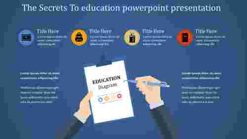 education powerpoint presentation with diagrams