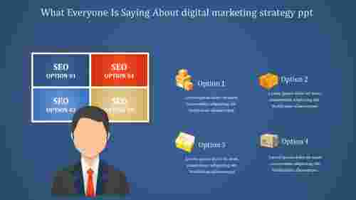 Business Digital Marketing Strategy Powerpoint