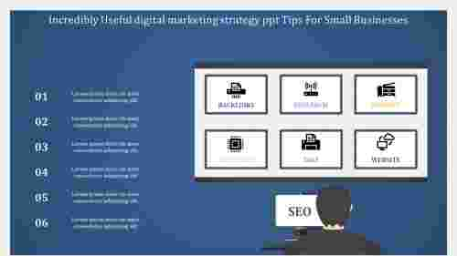 digital marketing strategy powerpoint with strategy