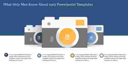 easy powerpoint templates - three camera model