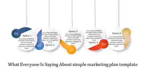 simple marketing plan template - five circle