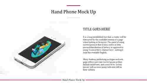 technology powerpoint templates - modile phone