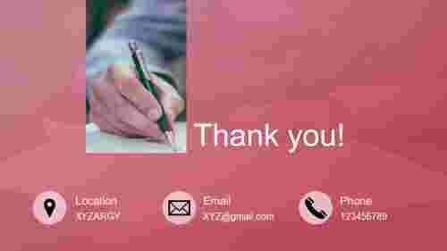 editable thank you powerpoint slide