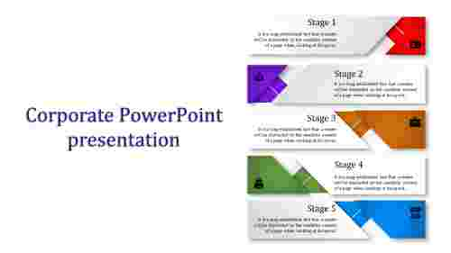 A four noded corporate powerpoint presentation