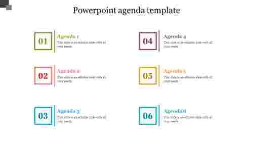 Sixstagespowerpointagendatemplate
