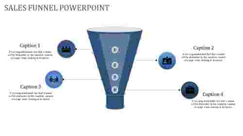 Vertical Sales Funnel Powerpoint Diagram