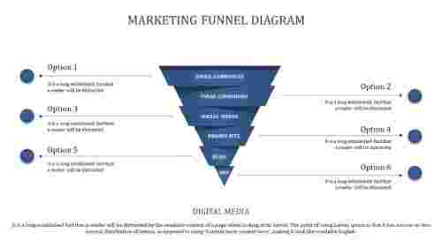 six levels marketing funnel powerpoint template