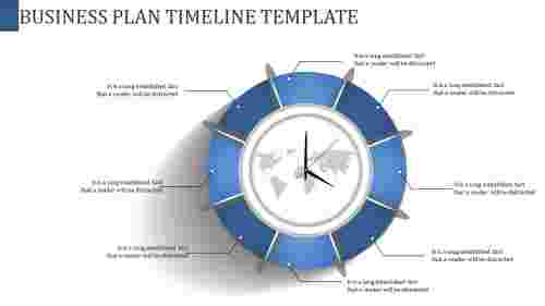 Clock model Business Plan Timeline Template