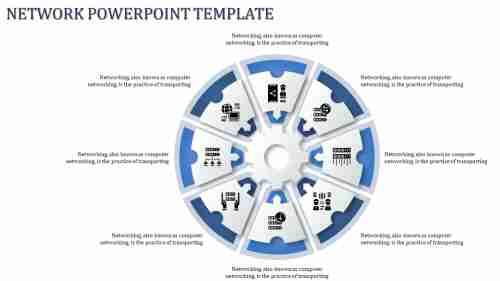 Aeightnodednetworkpowerpointtemplate