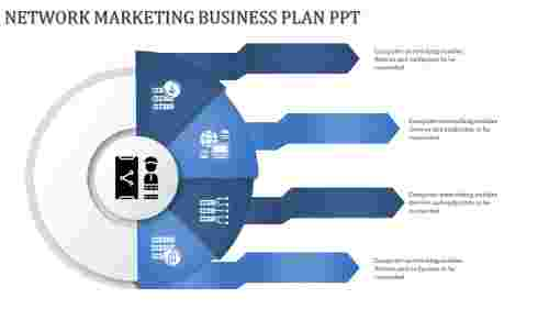 A four noded network marketing business plan ppt