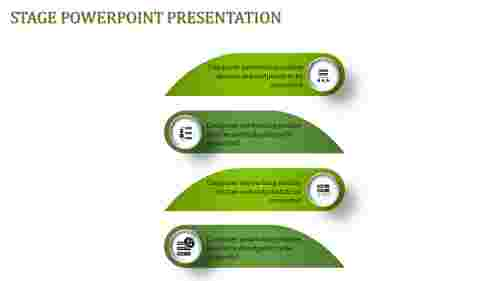 A four noded stage powerpoint Presentation