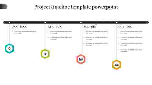 Quarter project timeline template PowerPoint