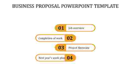 A four noded BUSINESS PROPOSAL POWERPOINT TEMPLATE