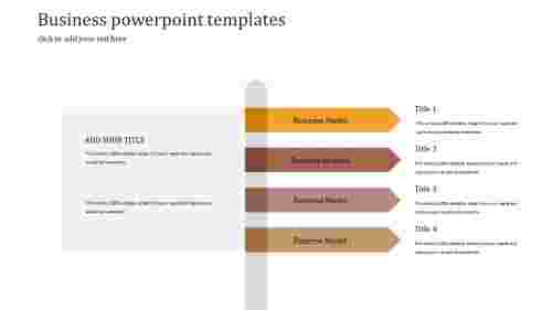 Business Powerpoint Templates in direction design