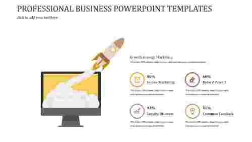 A four noded PROFESSIONAL BUSINESS POWERPOINT TEMPLATES