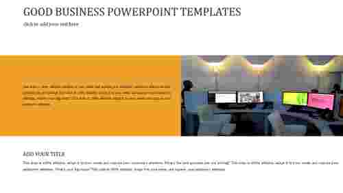 A one noded GOOD BUSINESS POWERPOINT TEMPLATES