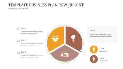 A three noded TEMPLATE BUSINESS PLAN POWERPOINT